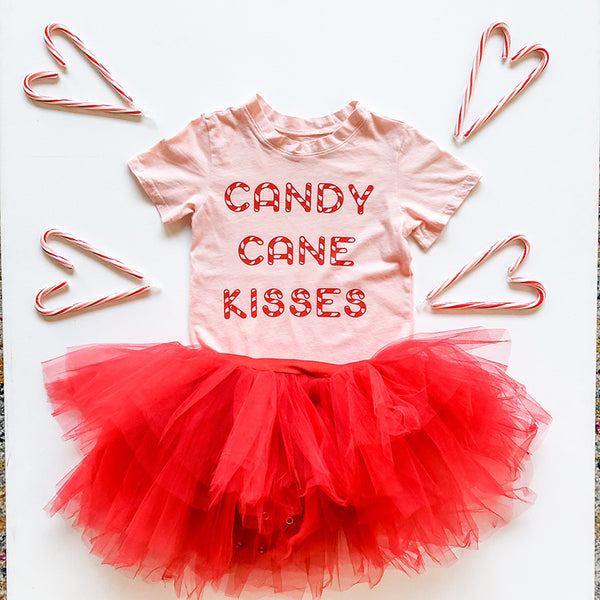 Candy Cane Kisses in Light Pink, 6mo-10year
