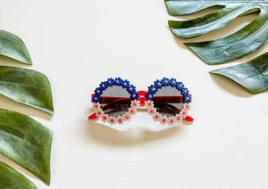 Red/White/Blue Daisy Sunnies