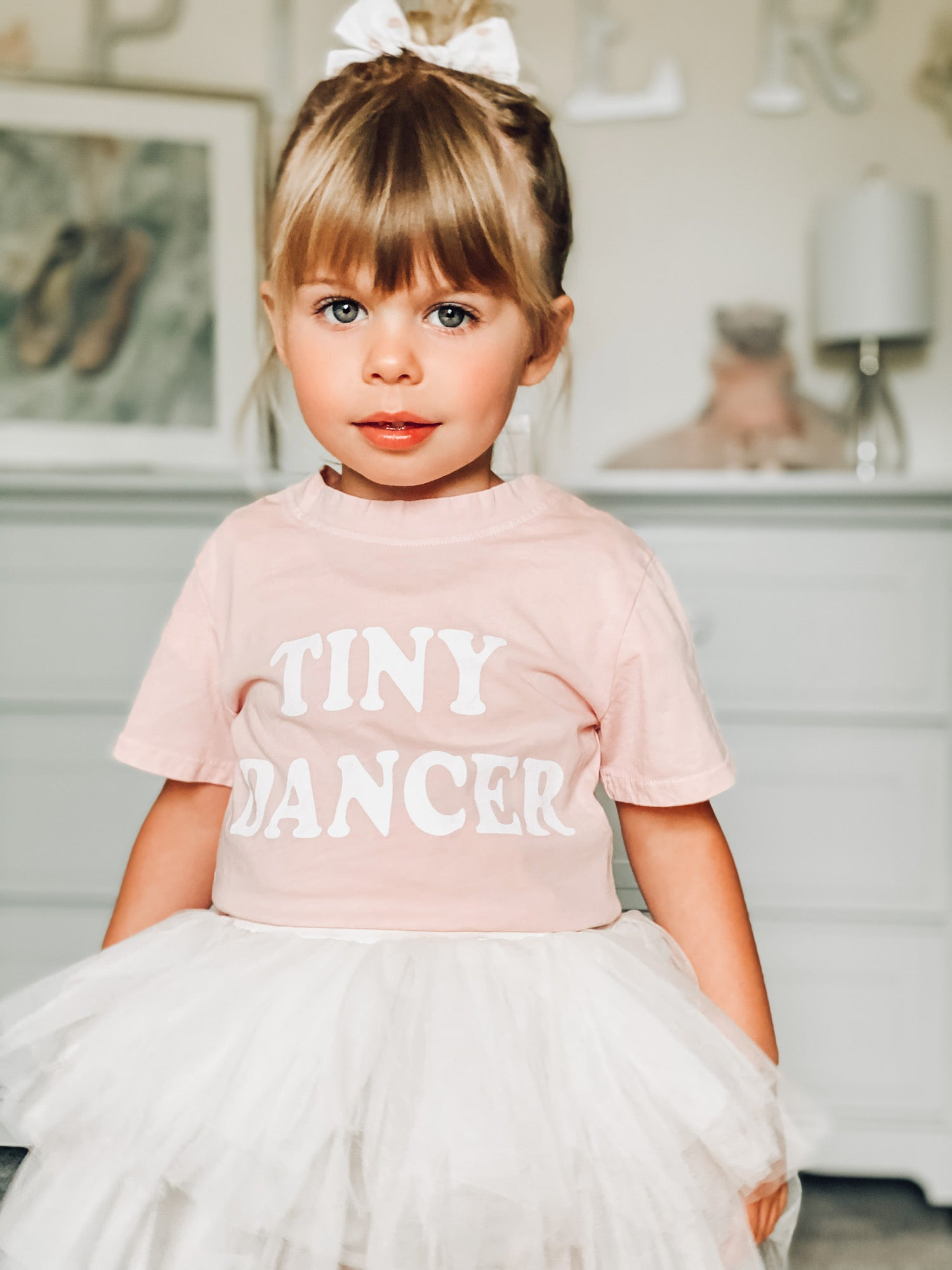 Tiny Dancer Tee in Pink 12mo-8yr
