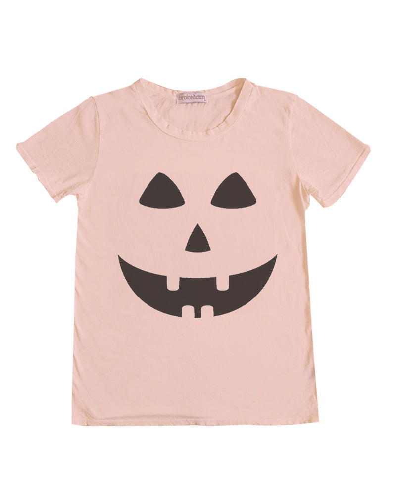 Women's Jack-O-Lantern Tee in Seashell, XS-XL