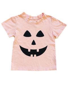 Jack O Lantern Tee in Seashell, 6mo-12year