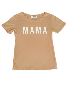 MAMA Tee in Gold Haze