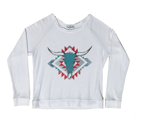 Bullhead Sweatshirt in White
