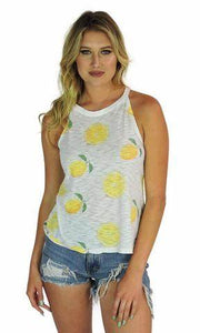 Lemon Tank in White