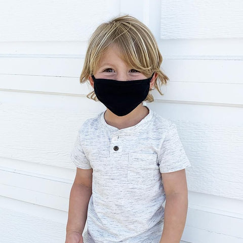 Kids Face Cover | 100% Organic Cotton | Black Color