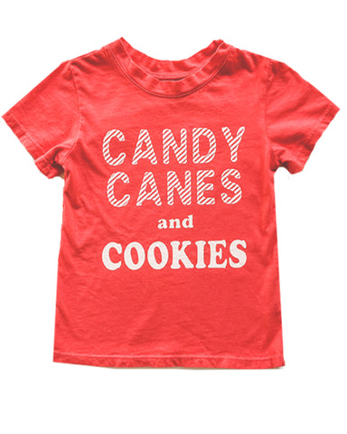 Candy Canes and Cookies Tee in Red, 6mo-10year