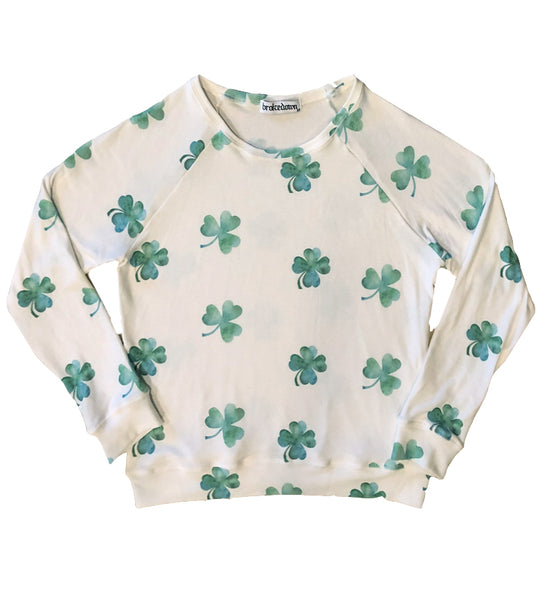 Women's Clover Sweatshirt in Off White