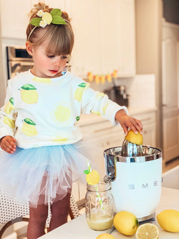 Lemon Kids Sweatshirt in White
