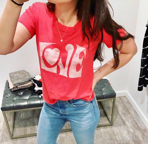 Women's LOVE Tee in Red