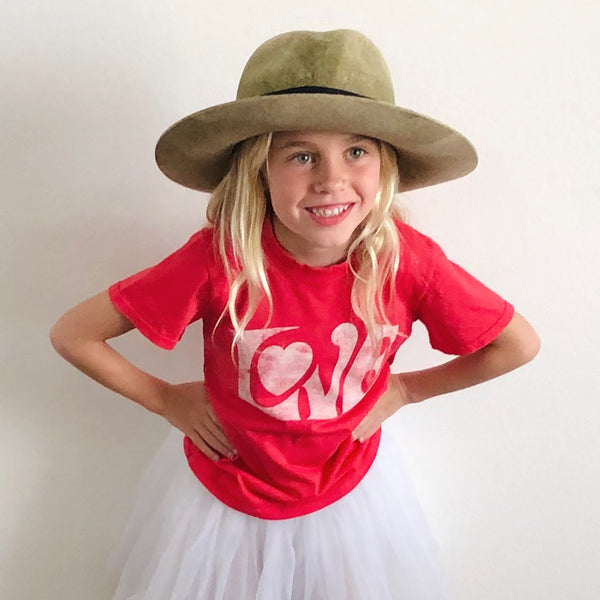 Kids Love Tee in Red