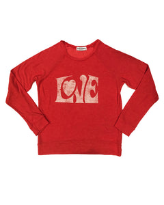 Women's LOVE Sweatshirt in Red