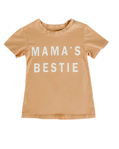 Mama's Bestie Tee in Gold Haze