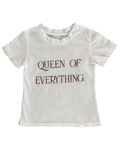 Queen of Everything Tee in White
