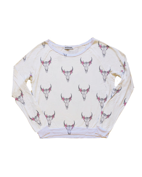 Rose Bullhead Sweatshirt, XS-XL
