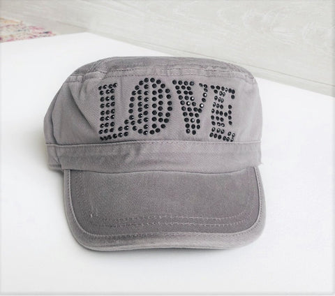 Silver LOVE Cadet Hat