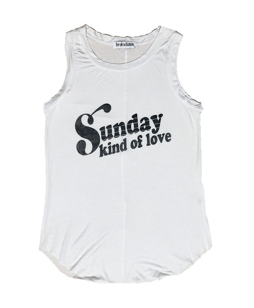 Women's Sunday Kind Of Love Relaxed Fit Tank Top, Cotton Modal Blend, Size XS-L | Brokedown Clothing