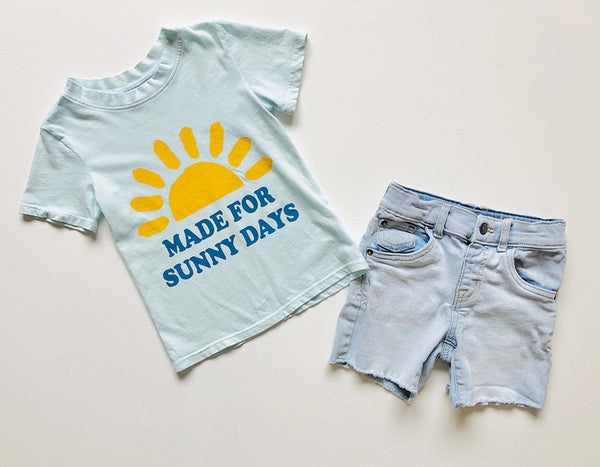 Made for Sunny Days Tee in Ice Blue, 12mo-8yr