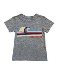 Surf Legend Kids Tee in Heather Grey 2T-8yr