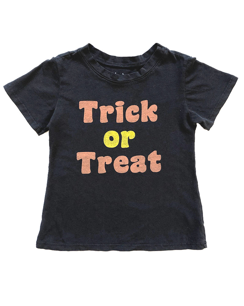Trick or Treat Tee in Vintage Black, size 6mo-12year