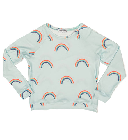 Women's Rainbow Sweatshirt in Mint