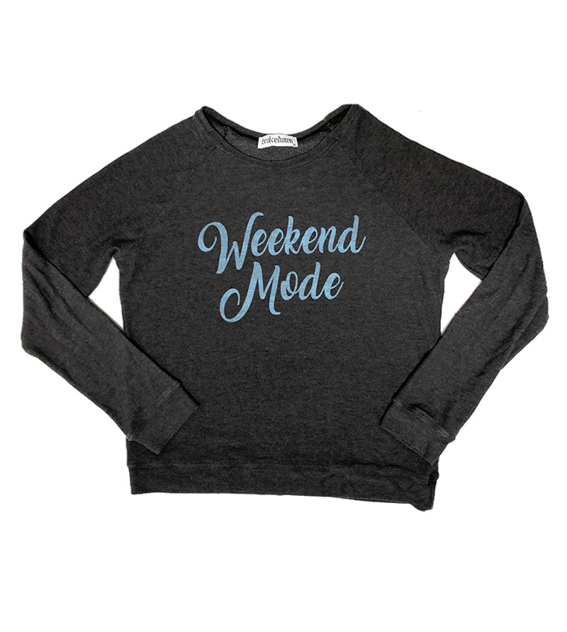 Women's Weekend Mode Sweatshirt in Black