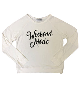 Women's Weekend Mode Sweatshirt in White