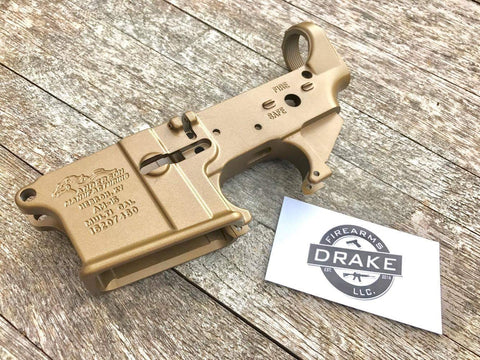 Anderson Manufacturing Burnt Bronze Stripped Lower Receiver