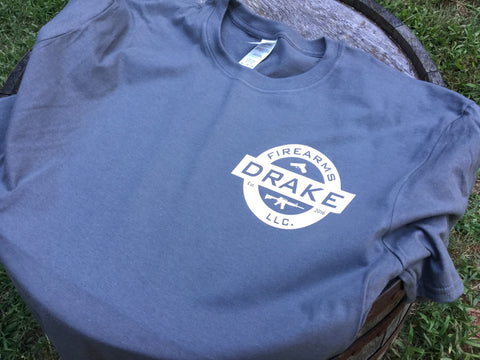 Drake Firearms LLC T-Shirt Charcoal and Cream