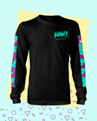 Shapes Long Sleeve Tee (Black)