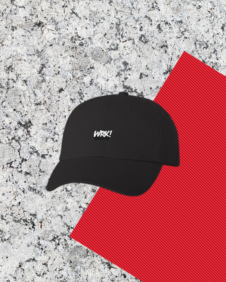 Wrk Dad Hat (Black)