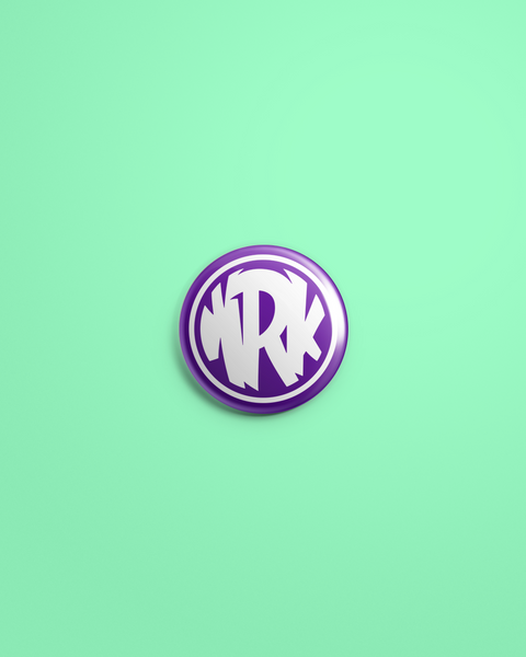 Purple Circle Logo Pin