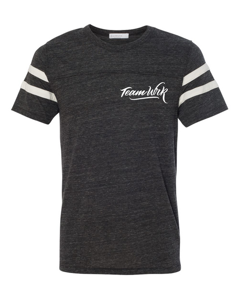 TeamWrk Striped Sleeve Tee