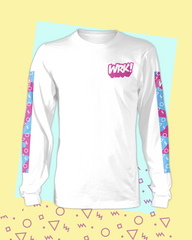Shapes Long Sleeve Tee (White)