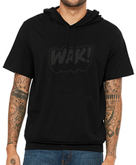 Black on Black Logo Hoodie (Short Sleeve)