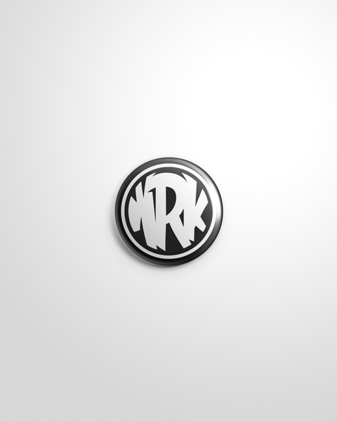 Black Circle Logo Pin