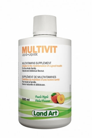 Land Art liquid multivitamine 500 ml by Land art - Ebambu.ca natural health product store - free shipping <59$