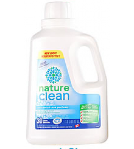 Nature Clean Laundry detergent 1.8 liters 30 loads by Nature Clean - Ebambu.ca natural health product store - free shipping <59$