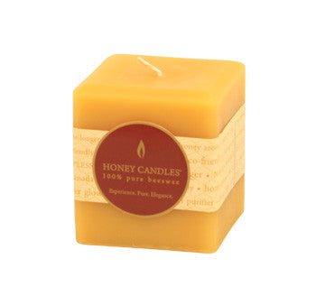 Honey Candles - Square Pillars - 4 colours