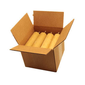 Honey Candles - 6 Inch Column Case of 12