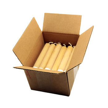 Honey Candles - 6 Inch Tube Case of 24 by Honey Candles - Ebambu.ca natural health product store - free shipping <59$