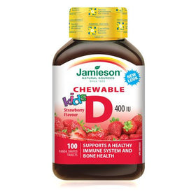 Jamieson Kids chewable Vitamin D3 400 IU - 100 tablets