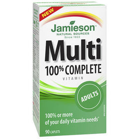 Jamieson Multivitamin 100% Complete for Adults - 90 caplets