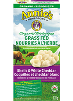 Annie's Homegrown - Organic Grass Fed Shells & White Cheddar 170 g - Ebambu.ca free delivery >59$