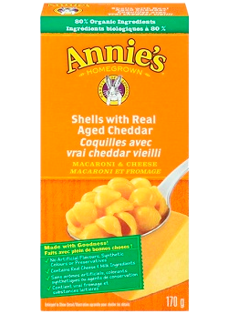 Annie's Homegrown - Shells with Real Aged Cheddar Macaroni & Cheese 170 g - Ebambu.ca free delivery >59$