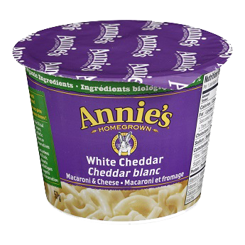 Annie's Homegrown - White Cheddar Macaroni & Cheese Microwavable Cup 57 g - Ebambu.ca free delivery >59$