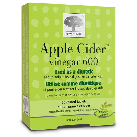 New Nordic Apple Cider Vinegar 600 by New Nordic - Ebambu.ca natural health product store - free shipping <59$