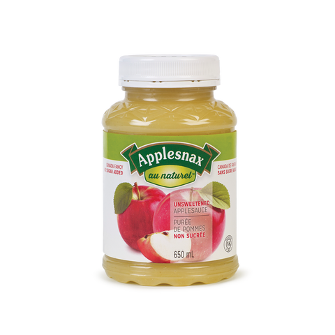 Applesnax - Applesauce Unsweetened 650 ml by Applesnax - Ebambu.ca natural health product store - free shipping <59$