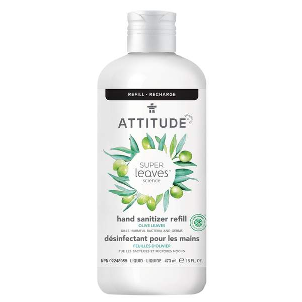 Attitude - Hand Sanitizer - 6 scents - Olive Leaves Refill 473 ml - Ebambu.ca free delivery >59$