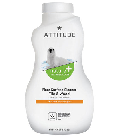 Attitude - Floor Surfaces, Tiles & Wood Cleaner 1L by Attitude - Ebambu.ca natural health product store - free shipping <59$