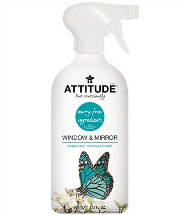 Attitude - Window & Mirror Cleaner 800 ml by Attitude - Ebambu.ca natural health product store - free shipping <59$